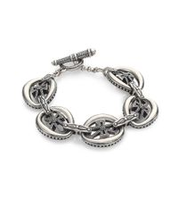 Konstantino - Metallic Penelope Sterling Silver Cross Link Bracelet - Lyst