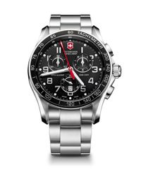 Victorinox - Metallic Chrono Classic Xls Stainless Steel Chronograph Bracelet Watch for Men - Lyst