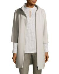 Peserico - Gray Two-piece Puffer Jacket And Coat - Lyst