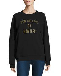Knowlita - Black New Orleans Or Nowhere Graphic Sweatshirt - Lyst