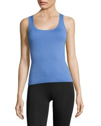 Michael Kors | Blue Cashmere Shell Top | Lyst