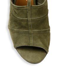 Aquazzura - Green Very Eugenie Suede Tie-up Sandals - Lyst