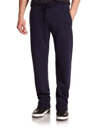 Ferragamo - Blue Cashmere Jogger Pants for Men - Lyst