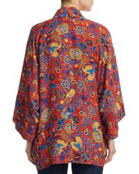 Elizabeth and James - Red Printed Short Sleeve Jacket W/ Tags - Lyst