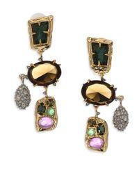 Alexis Bittar - Metallic Semi-precious Multi-stone Chandelier Earrings - Lyst
