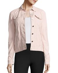 ATM | Pink Leather Trucker Jacket | Lyst
