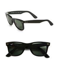 Ray-Ban - Black 55mm Classic Wayfarer Sunglasses for Men - Lyst