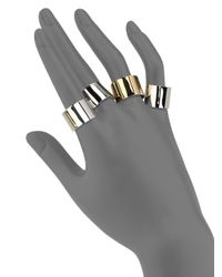 Maison Margiela - Metallic Knuckle Duster Four-band Ring Set/two-tone - Lyst