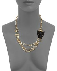 Alexis Bittar - Metallic Multi-chain Crystal Panther Necklace - Lyst