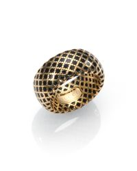 Gucci - Metallic Diamantissima 18k Yellow Gold & Enamel Ring - Lyst