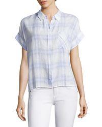 Rails Blue Whitney Casual Button-down Shirt