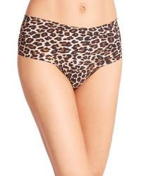 Hanky Panky | Brown Leopard Bare Godiva Thong | Lyst