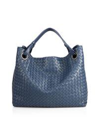 Bottega Veneta   Blue Intrecciato Top-handle Bag   Lyst