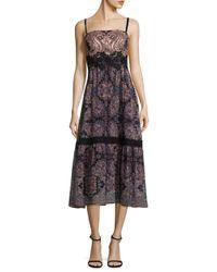 Nanette Lepore - Black Lady Jane Silk Dress - Lyst