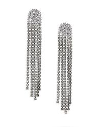 Adriana Orsini - Metallic Crystal Tassel Earrings - Lyst