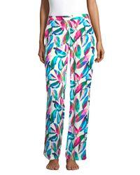 Onia - Blue Mila Tropical-print Pants - Lyst