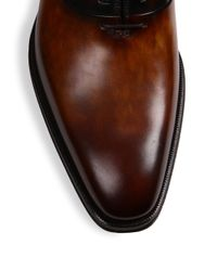 Saks Fifth Avenue - Brown Saks Fifth Avenue By Magnanni Leather Oxfords for Men - Lyst