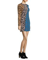 Diane von Furstenberg | Blue Bias Fitted Mini Dress | Lyst