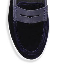 Cole Haan - Blue Pinch Weekender Velvet Penny Loafers for Men - Lyst
