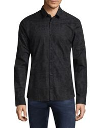 HUGO - Blue Ero Regular-fit Cotton Button-down Shirt for Men - Lyst