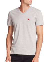 Burberry - Gray Lindon Tee for Men - Lyst