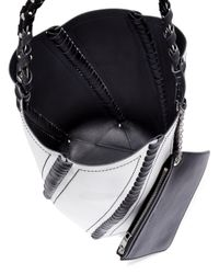 Proenza Schouler - White Hex Large Whipstitched Leather Bucket Bag - Lyst