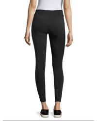 BLANC NOIR - Black Side Striped Leggings - Lyst