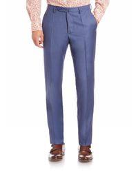 Incotex - Blue Benson Sharkskin Dress Pants for Men - Lyst