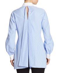 Junya Watanabe - Blue Striped Button Front Tunic - Lyst