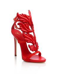 Giuseppe Zanotti - Red Suede Wing Sandals - Lyst