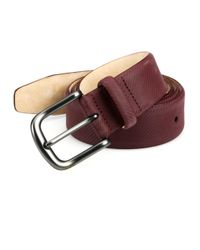 Saks Fifth Avenue - Purple Textured Micro Carbon Belt for Men - Lyst