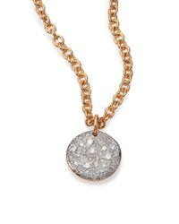 Pomellato - Pink Sabbia Diamond & 18k Rose Gold Pendant - Lyst