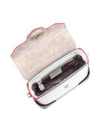 MANU Atelier - Multicolor Micro-bold Colorblock Leather & Suede Top Handle Bag - Lyst