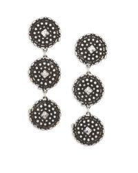 DANNIJO - Metallic Rossi Crystal Drop Earrings - Lyst