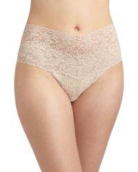 Hanky Panky - Natural Plus Size Retro Lace V-kini Thong - Lyst