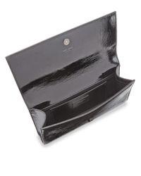 Saint Laurent - Black Kate Leather Clutch - Lyst