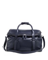 Giorgio Armani - Blue Large Leather Weekend Bag for Men - Lyst