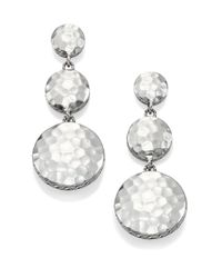 John Hardy | Metallic Palu Sterling Silver Disc Triple Drop Earrings | Lyst