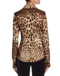 Dolce & Gabbana - Multicolor Leopard Print Blouse - Lyst