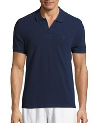 Vilebrequin - Blue Solid Pique Polo for Men - Lyst