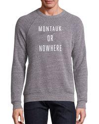 Knowlita - Gray New York Or Nowhere Graphic Sweatshirt - Lyst