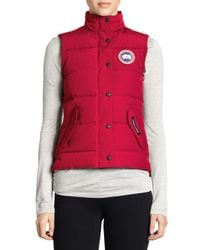 Canada Goose - Red Freestyle Vest - Lyst