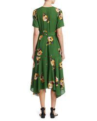 0049b66126b1 A.L.C. Cora Dress Green Floral in Green - Lyst