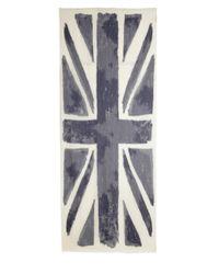 Roda - Blue Burnout Uk Flag Scarf for Men - Lyst