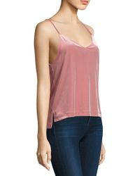 Rag & Bone - Pink Amber Velvet Camisole - Lyst