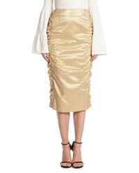 Mother Of Pearl - Metallic Idella Gingham Plaid Skirt - Lyst