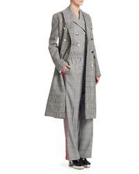 CALVIN KLEIN 205W39NYC - Brown Checkered Wool Coat - Lyst