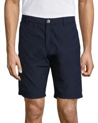 Vilebrequin - Blue Straight Fit Solid Bermuda Shorts for Men - Lyst
