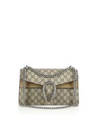 Gucci - Natural Dionysus Gg Supreme Small Coated Canvas Shoulder Bag - Lyst