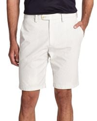 Saks Fifth Avenue - Natural Pincord Bermuda Shorts for Men - Lyst